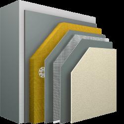 Nichtbrennbares Wärmedämm-Verbundsystem, besonders geeignet für Hochhäuser und öffentliche Gebäude