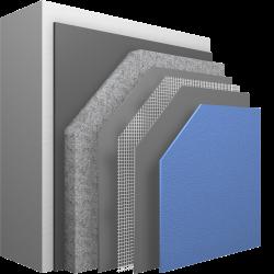 Zementfreies Wärmedämm-Verbundsystem mit maximaler Risssicherheit und Stoßfestigkeit.
