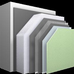 Wärmedämm-Verbundsystem mit mineralischem Unterputz für vielfältige Oberflächen